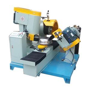 Three-head end cylindrical polishing machine